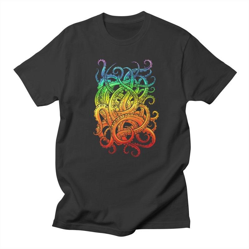 Rainbow Tentacles Men's T-Shirt by Marty's Artist Shop