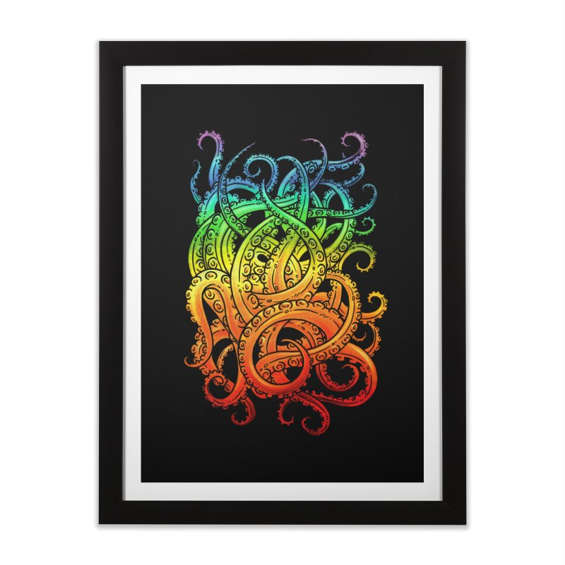 Rainbow Tentacles Home Framed Fine Art Print by Marty's Artist Shop