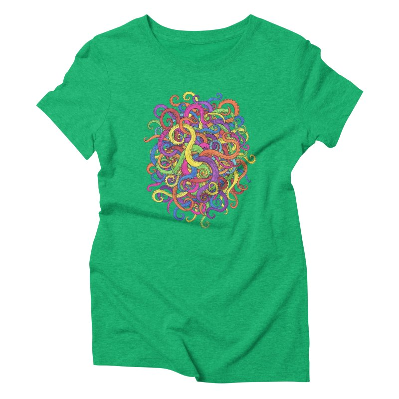 Tangled in Tentacles Women's Triblend T-Shirt by Marty's Artist Shop