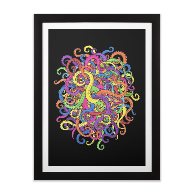 Tangled in Tentacles Home Framed Fine Art Print by Marty's Artist Shop