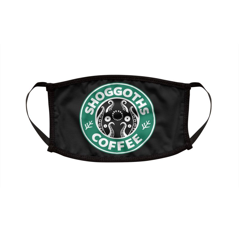 Shoggoths Coffee Accessories Face Mask by Marty's Artist Shop
