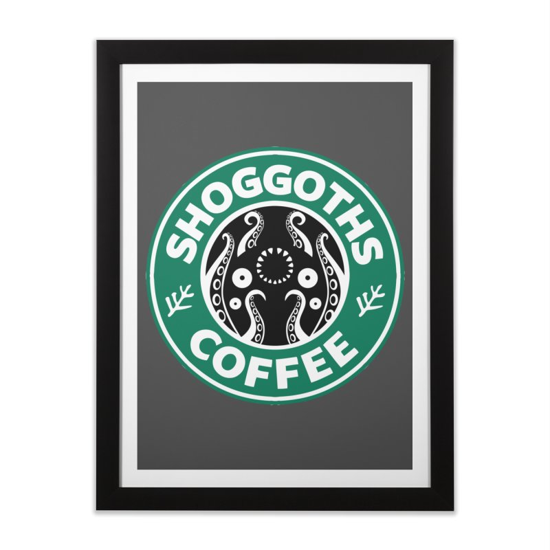 Shoggoths Coffee Home Framed Fine Art Print by Marty's Artist Shop