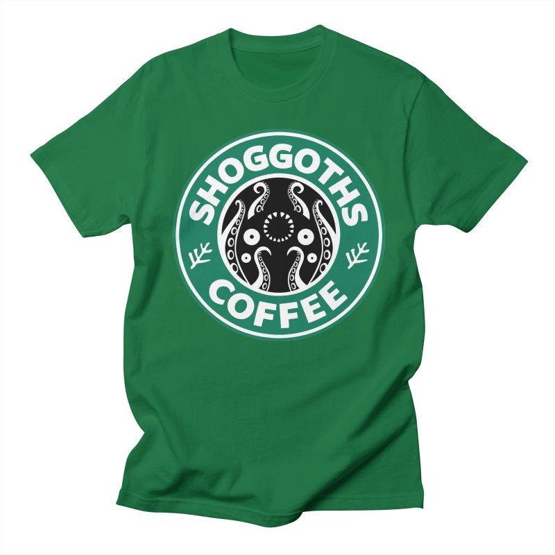 Shoggoths Coffee Men's T-Shirt by Marty's Artist Shop