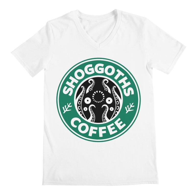 Shoggoths Coffee Men's V-Neck by Marty's Artist Shop