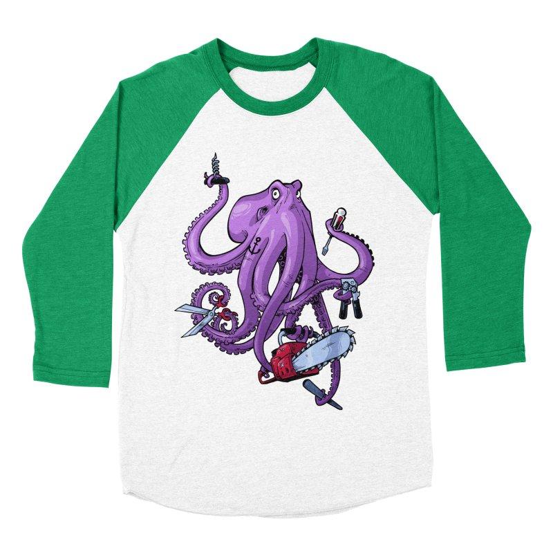 Swiss Army Octopus Women's Baseball Triblend Longsleeve T-Shirt by Marty's Artist Shop