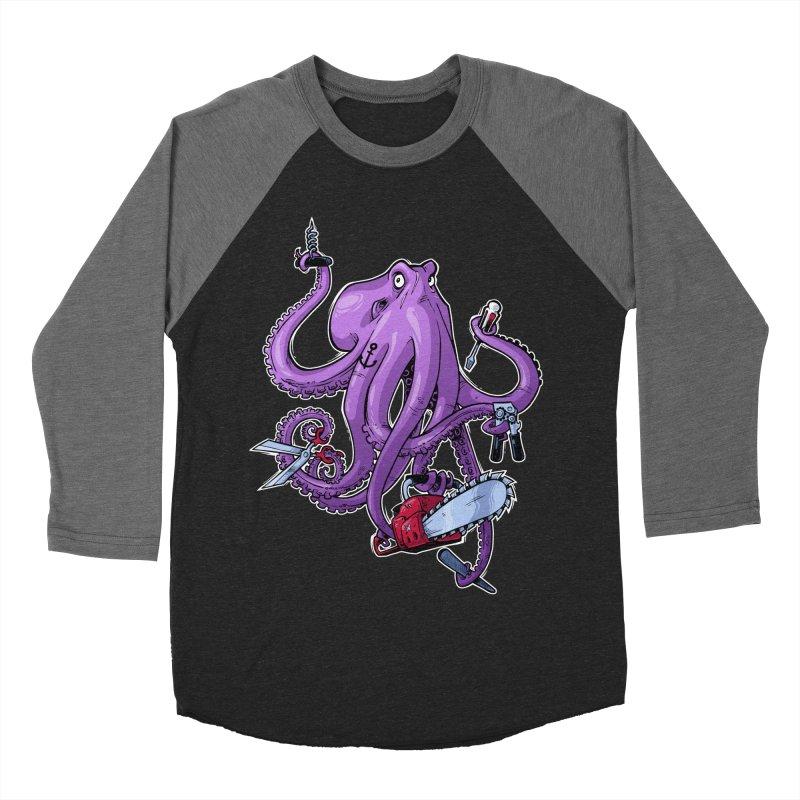 Swiss Army Octopus Men's Baseball Triblend Longsleeve T-Shirt by Marty's Artist Shop