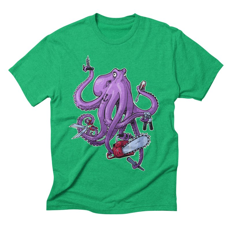 Swiss Army Octopus Men's Triblend T-shirt by Marty's Artist Shop