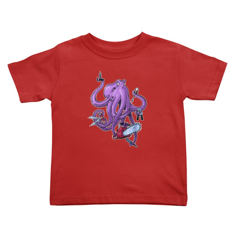 Swiss Army Octopus Kids Toddler T-Shirt by Marty's Artist Shop