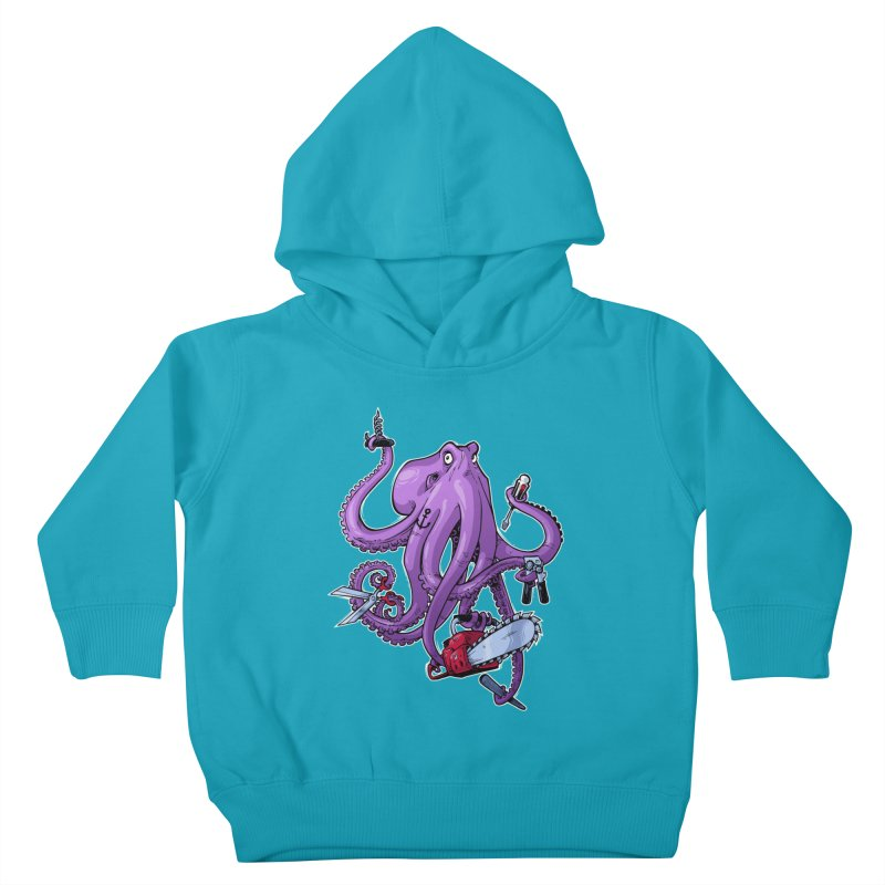 Swiss Army Octopus Kids Toddler Pullover Hoody by Marty's Artist Shop