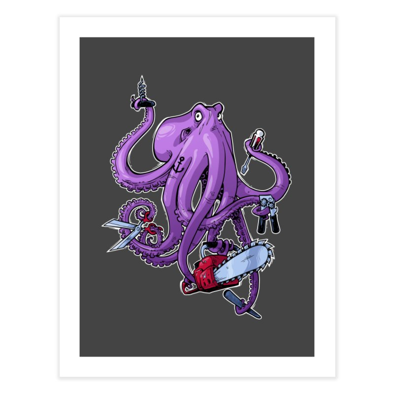 Swiss Army Octopus Home Fine Art Print by Marty's Artist Shop