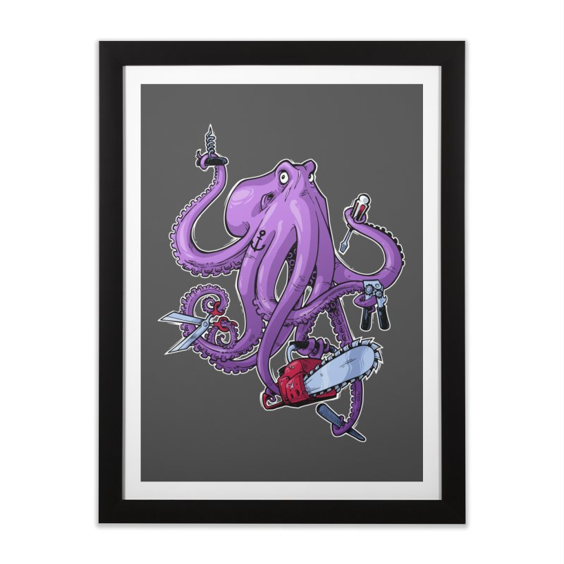 Swiss Army Octopus Home Framed Fine Art Print by Marty's Artist Shop