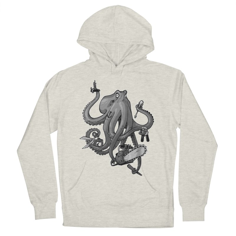 Swiss Army Octopus, B&W Women's Pullover Hoody by Marty's Artist Shop
