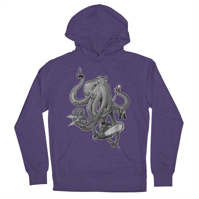 Swiss Army Octopus, B&W Men's Pullover Hoody by Marty's Artist Shop