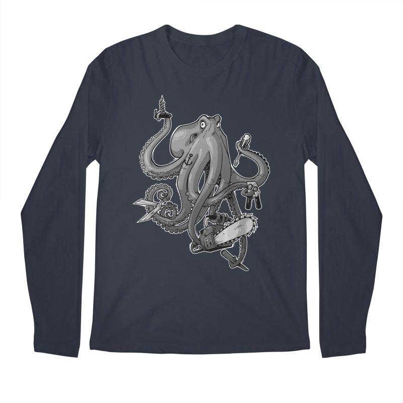 Swiss Army Octopus, B&W Men's Longsleeve T-Shirt by Marty's Artist Shop