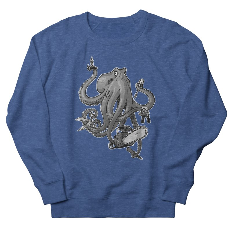 Swiss Army Octopus, B&W Women's Sweatshirt by Marty's Artist Shop