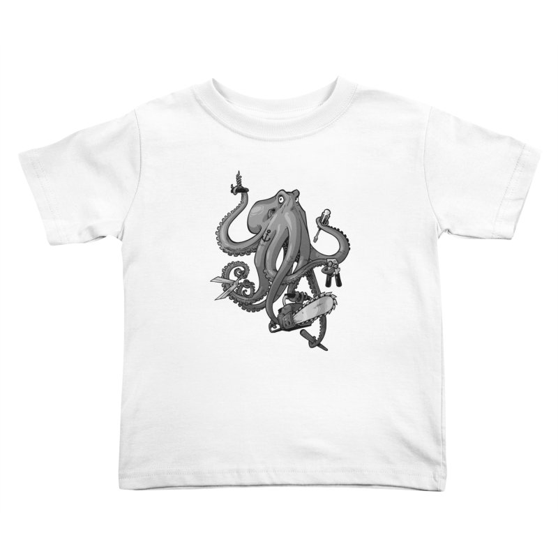 Swiss Army Octopus, B&W   by Marty's Artist Shop