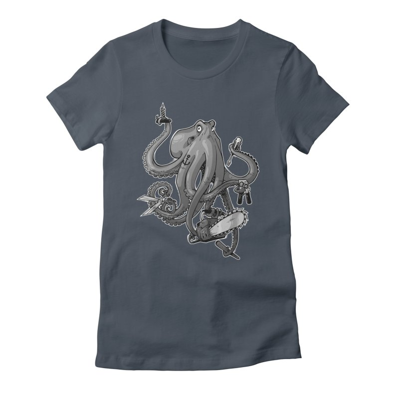 Swiss Army Octopus, B&W Women's T-Shirt by Marty's Artist Shop