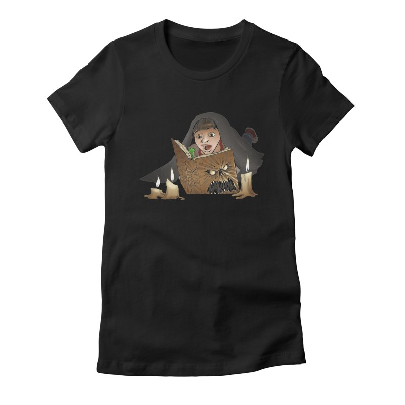 Neverending Horror Women's Fitted T-Shirt by Marty's Artist Shop