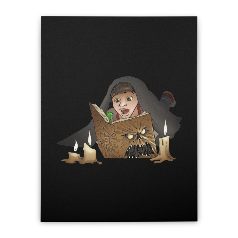 Neverending Horror Home Stretched Canvas by Marty's Artist Shop