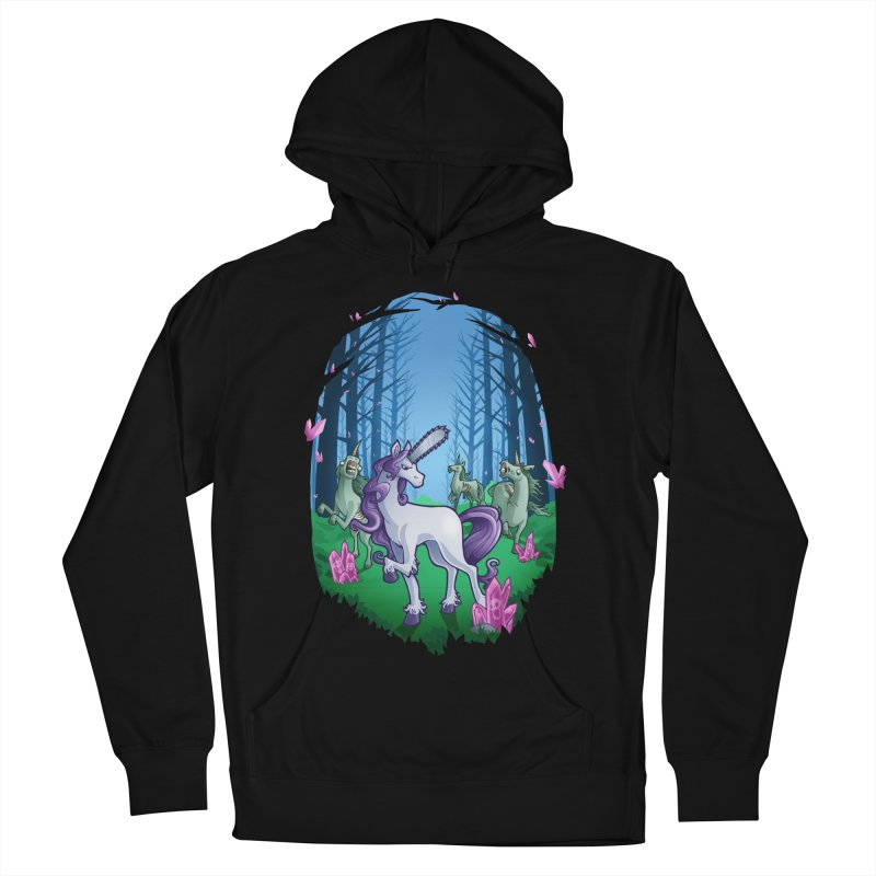 Chainsaw Unicorn Men's Pullover Hoody by Marty's Artist Shop