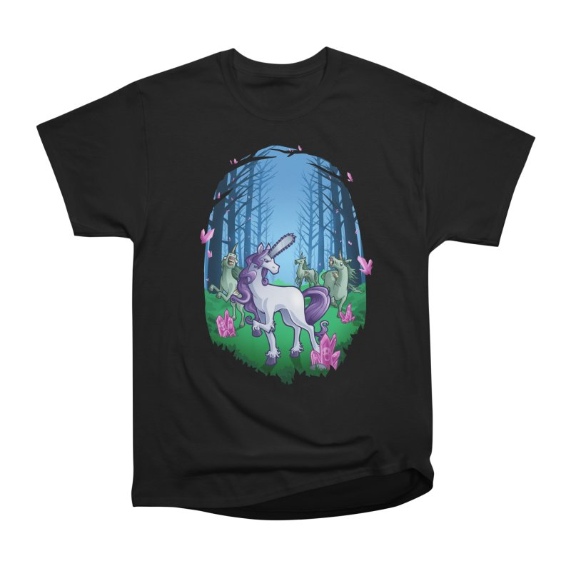 Chainsaw Unicorn Women's Classic Unisex T-Shirt by Marty's Artist Shop