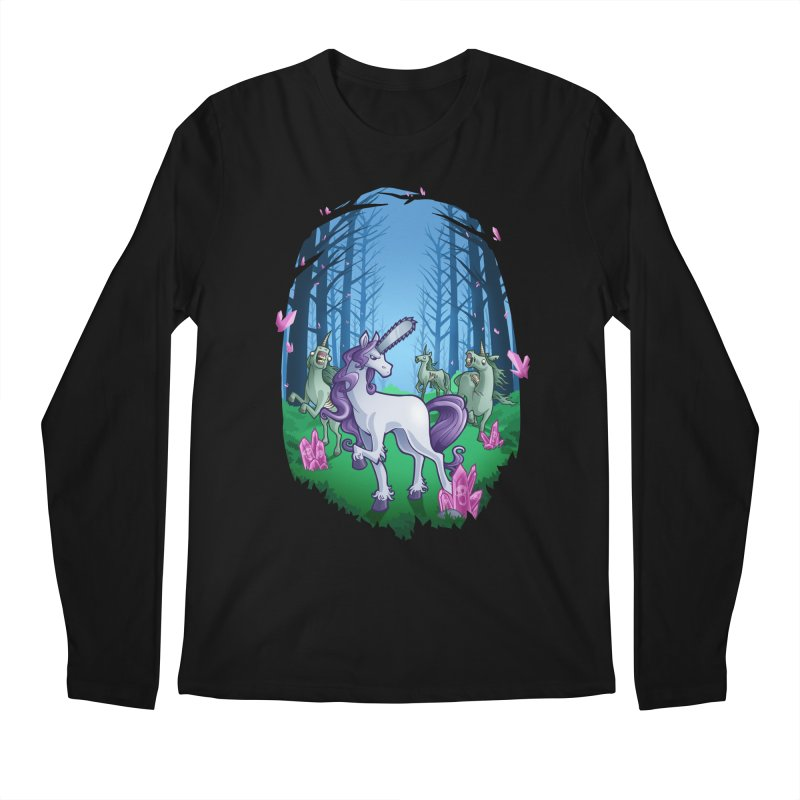 Chainsaw Unicorn Men's Longsleeve T-Shirt by Marty's Artist Shop