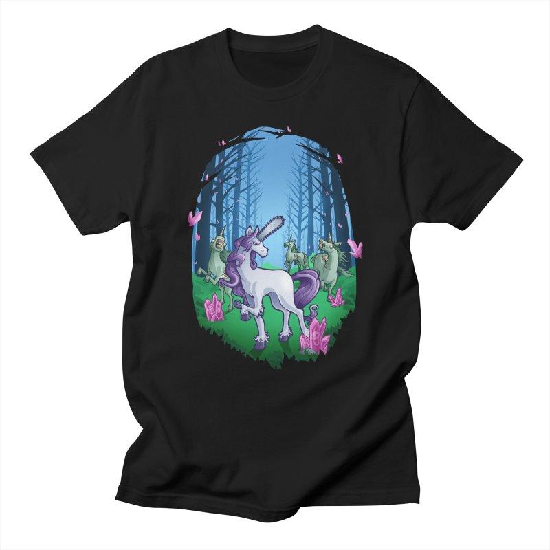 Chainsaw Unicorn Men's T-Shirt by Marty's Artist Shop