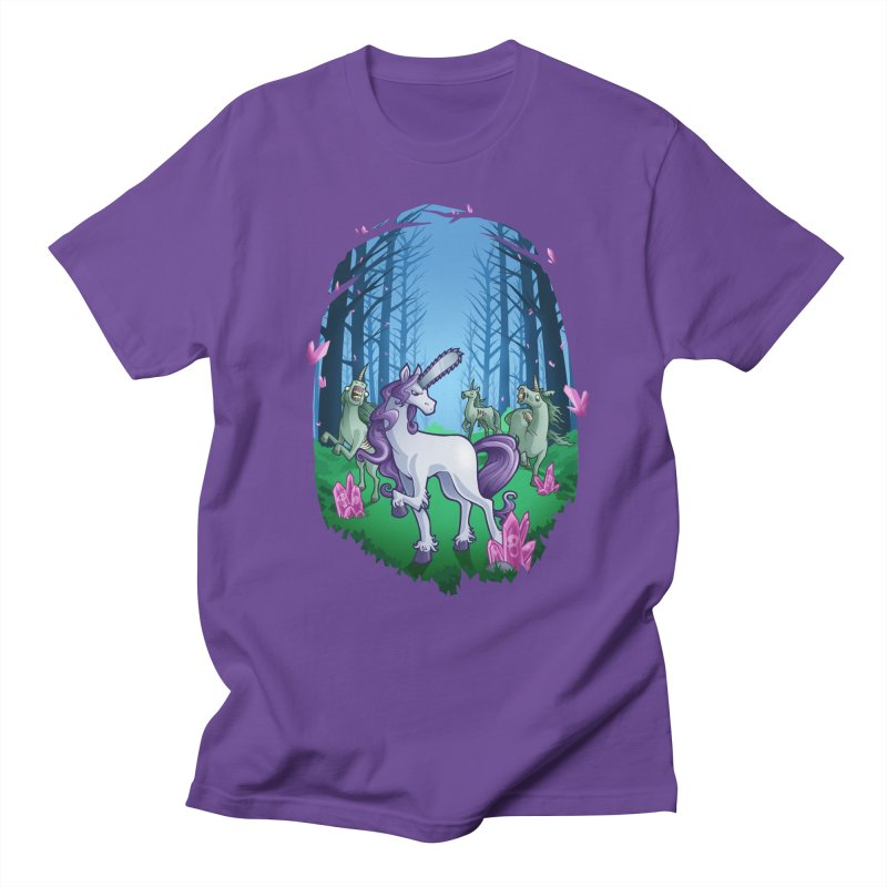 Chainsaw Unicorn Men's T-Shirt by Marty's Artist Shop