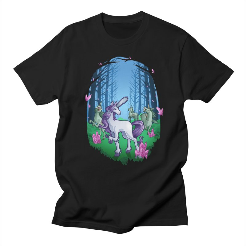 Chainsaw Unicorn Women's Unisex T-Shirt by Marty's Artist Shop