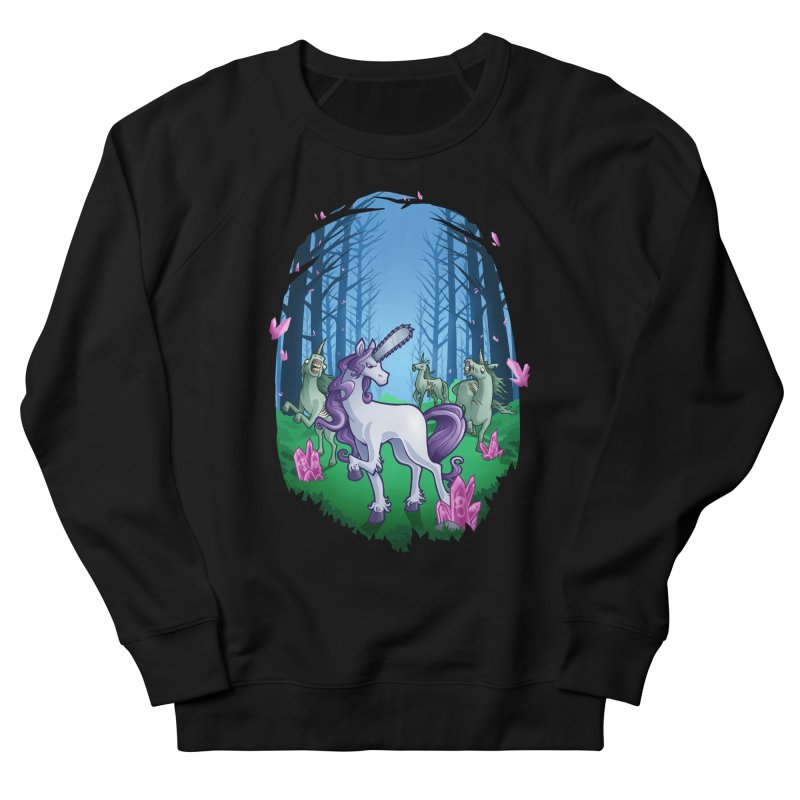 Chainsaw Unicorn Men's Sweatshirt by Marty's Artist Shop