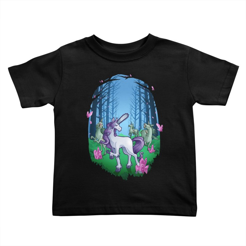 Chainsaw Unicorn Kids Toddler T-Shirt by Marty's Artist Shop