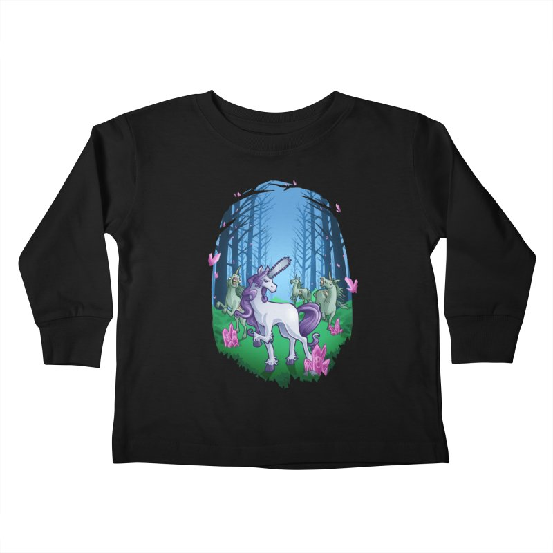 Chainsaw Unicorn Kids Toddler Longsleeve T-Shirt by Marty's Artist Shop
