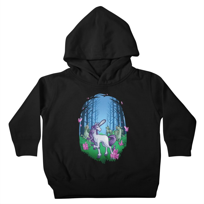 Chainsaw Unicorn Kids Toddler Pullover Hoody by Marty's Artist Shop