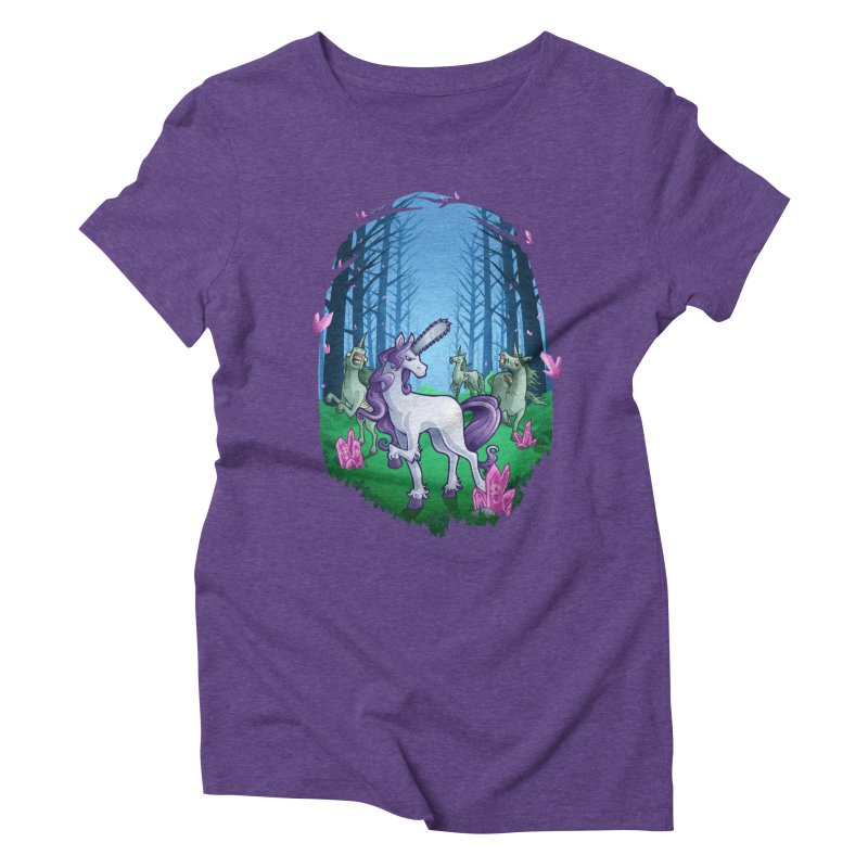 Chainsaw Unicorn Women's Triblend T-shirt by Marty's Artist Shop