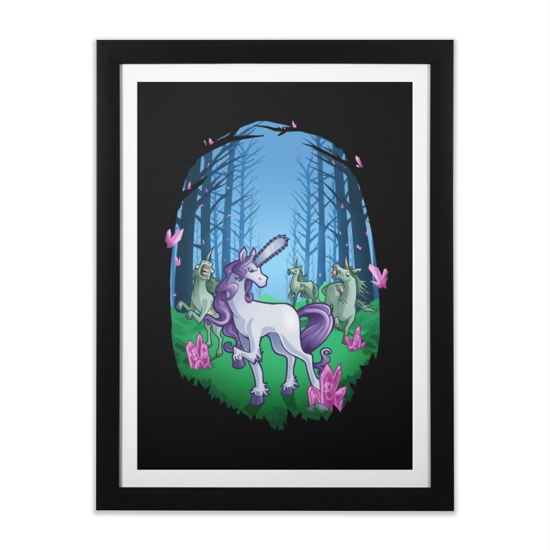 Chainsaw Unicorn Home Framed Fine Art Print by Marty's Artist Shop