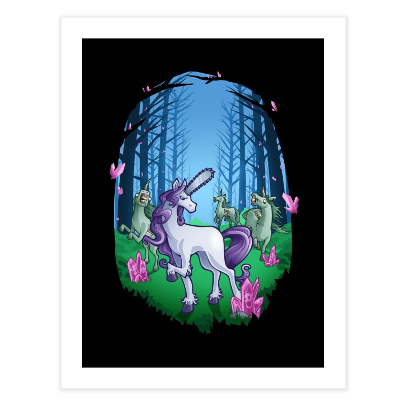 Chainsaw Unicorn Home Fine Art Print by Marty's Artist Shop