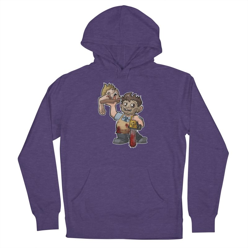 Texas Chainsaw Drive Thru Men's French Terry Pullover Hoody by Marty's Artist Shop