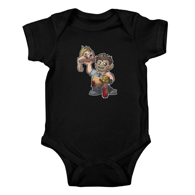 Texas Chainsaw Drive Thru Kids Baby Bodysuit by Marty's Artist Shop