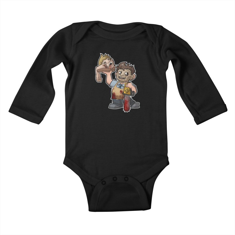 Texas Chainsaw Drive Thru Kids Baby Longsleeve Bodysuit by Marty's Artist Shop