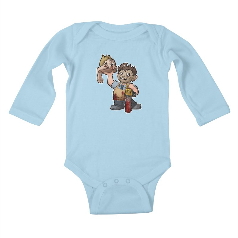 Texas Chainsaw Drive Thru Kids Baby Longsleeve Bodysuit by Marty's Artist Shop