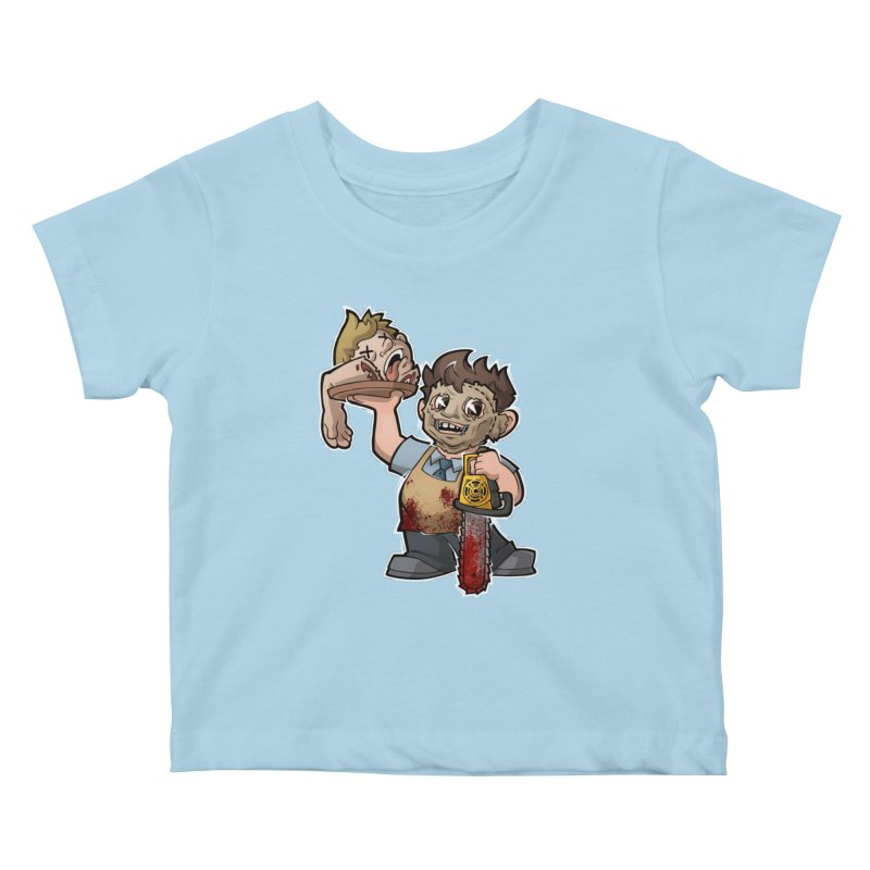Texas Chainsaw Drive Thru Kids Baby T-Shirt by Marty's Artist Shop