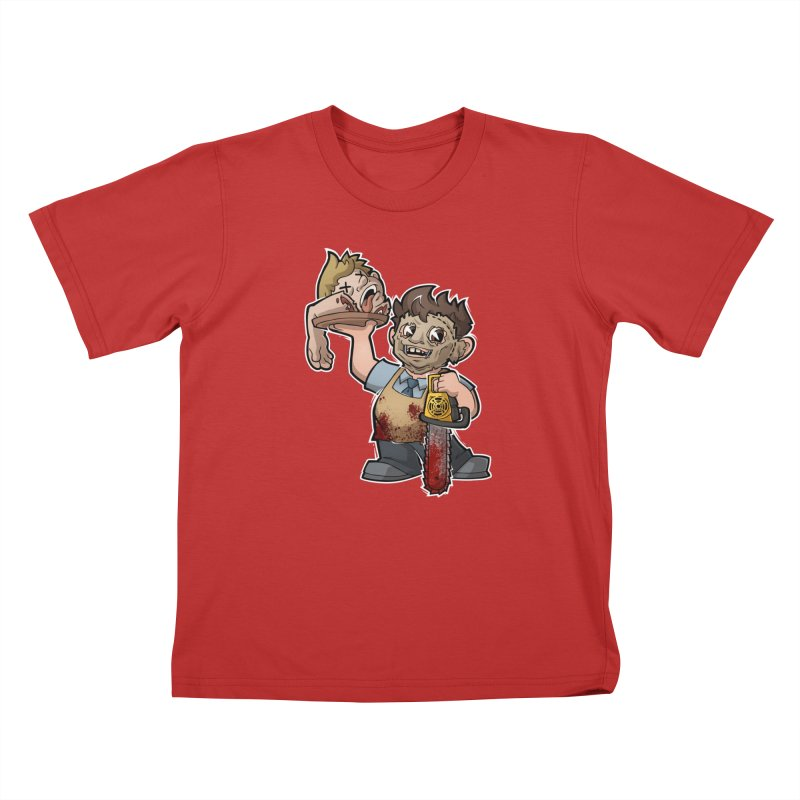 Texas Chainsaw Drive Thru Kids T-Shirt by Marty's Artist Shop