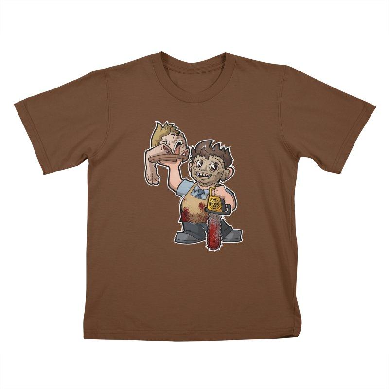 Texas Chainsaw Drive Thru Kids T-Shirt by Marty's Artist Shop