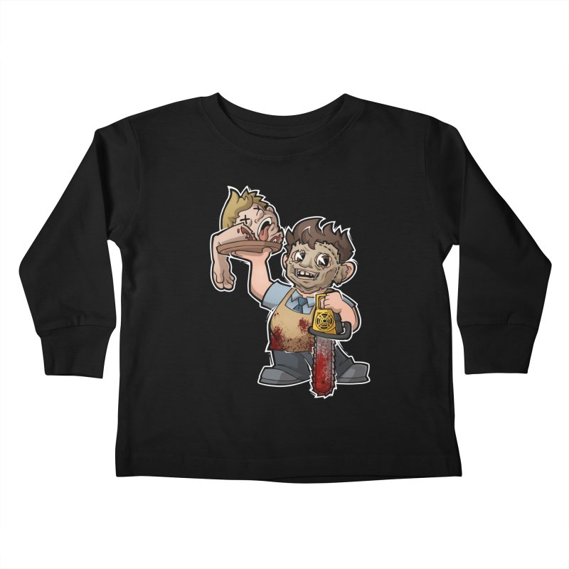 Texas Chainsaw Drive Thru Kids Toddler Longsleeve T-Shirt by Marty's Artist Shop