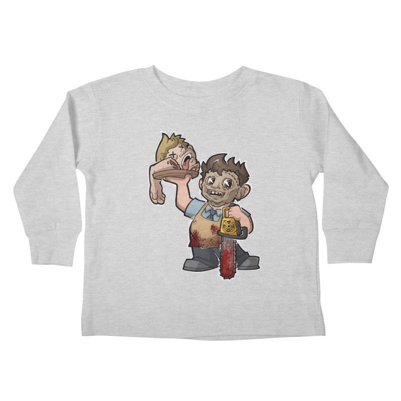 Texas Chainsaw Drive Thru Kids Toddler Longsleeve T-Shirt by Marty's Artist Shop
