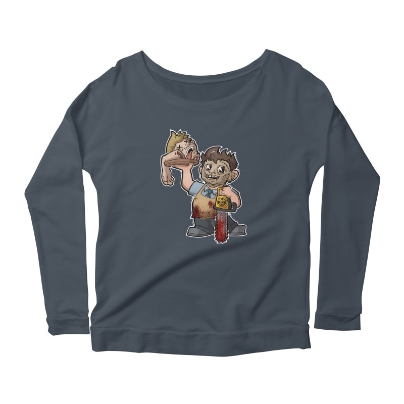 Texas Chainsaw Drive Thru Women's Scoop Neck Longsleeve T-Shirt by Marty's Artist Shop