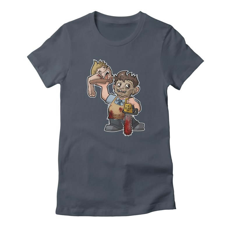 Texas Chainsaw Drive Thru Women's Fitted T-Shirt by Marty's Artist Shop