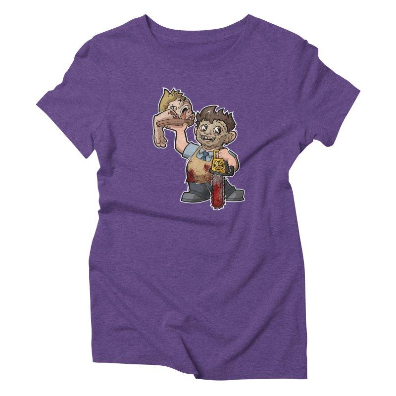 Texas Chainsaw Drive Thru Women's Triblend T-Shirt by Marty's Artist Shop