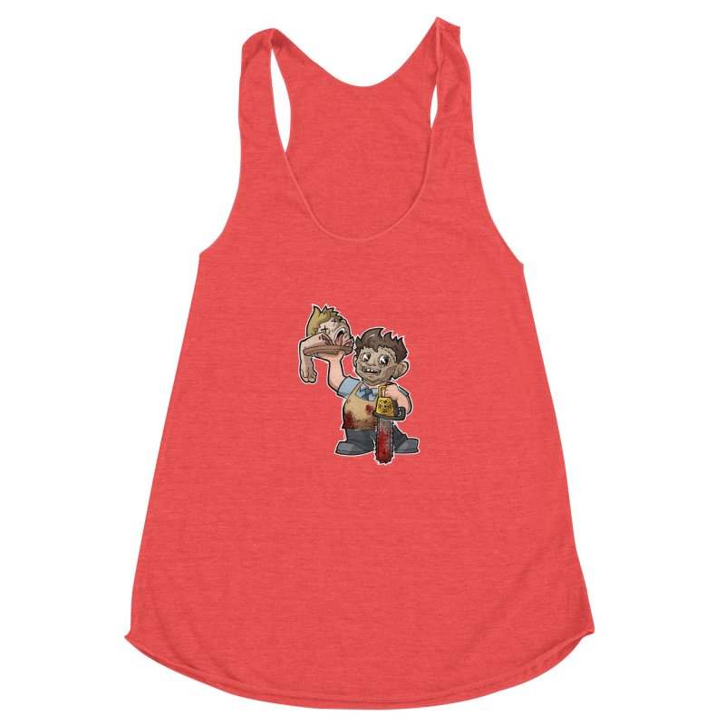 Texas Chainsaw Drive Thru Women's Racerback Triblend Tank by Marty's Artist Shop