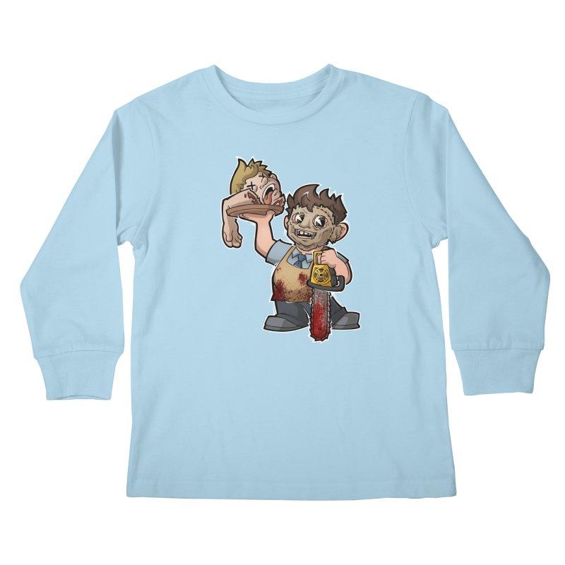 Texas Chainsaw Drive Thru Kids Longsleeve T-Shirt by Marty's Artist Shop